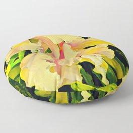 Two Cattleya Orchids Aloha Floor Pillow