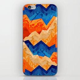 Textural waves iPhone Skin
