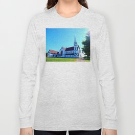 St. Mary's Church front view Long Sleeve T-shirt