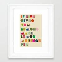 pie Framed Art Prints featuring Pie by kingslip