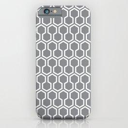 Honey Comb Pattern Grey iPhone Case