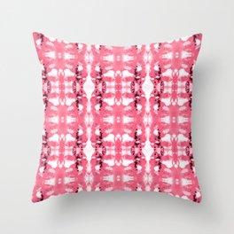 Tie-Dye Corals Throw Pillow