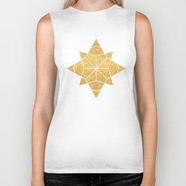 STAR SHAPE sacred geometry Biker Tank