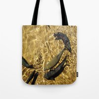 trout Tote Bags featuring Trout by Impromptu;
