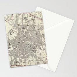 Vintage Map of Milan Italy (1832) Stationery Cards