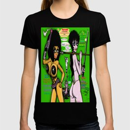 Space Chick & Nympho: Vampire Warrior Party Girl Comix #1 - Comic Book Cover T-shirt