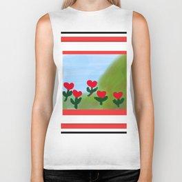 Hearts from a Rose Biker Tank