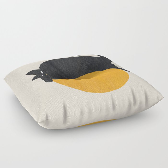 Cat with ball Floor Pillow