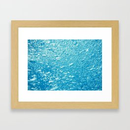 Bubbles Underwater Framed Art Print