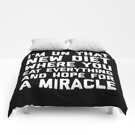 New Diet Funny Quote Comforters