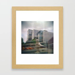 A Goat in the Middle Framed Art Print