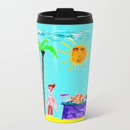 Honeymoon in Mykonos Travel Mug