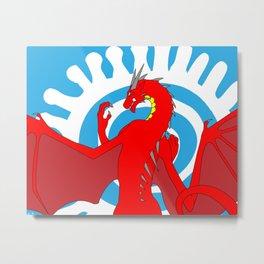 Annoth the Warrior Dragon Metal Print