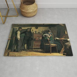 Christen Dalsgaard - The Village Carpenter Bringing a Coffin for a Dead Child Rug