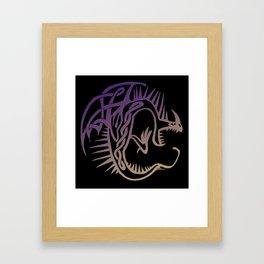 Deadly Nadder Purple and Gold Framed Art Print