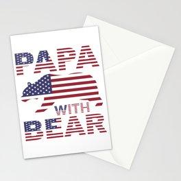 PAPA WITH BEAR Stationery Cards