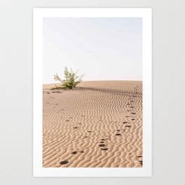 Footsteps in the dunes of Corralejo | Calm natural travel fine art print | Fuer Art Print