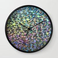 holographic Wall Clocks featuring Holographic I by Featured Interiors