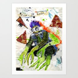 Pizza is Cool Art Print