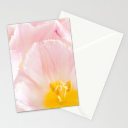 Light pink tulip macro inside Stationery Cards
