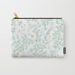 Forget me nots on white - in memory... Carry-All Pouch