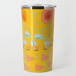 Yellow sunshine darling | Home decor | Happy art Travel Mug