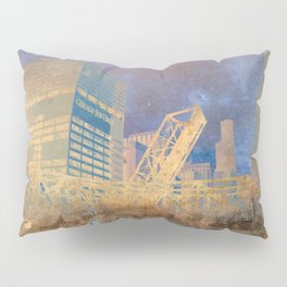 Drawbridge Chicago River City Skyline Pillow Sham