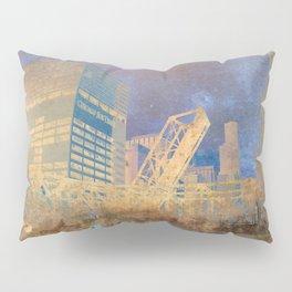 Drawbridge Chicago River City Skyline Pillow Sham