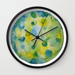 """Full moon in spring"" watercolor Wall Clock"