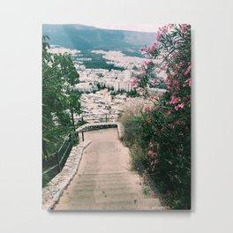 Pink n White Metal Print