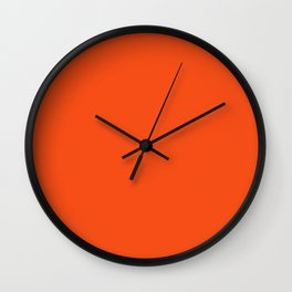 Vermilion colour Wall Clock
