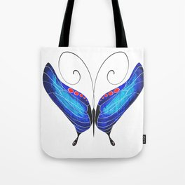 Blue Morpho Butterfly Tote Bag