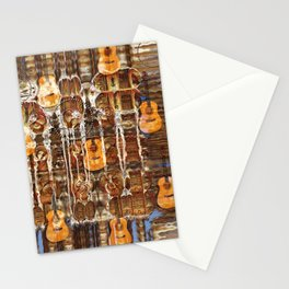 Grunge Abstract with Guitars and Metals Stationery Cards