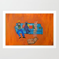 Couch Pizza  Art Print