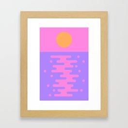 Paradise Sunset Framed Art Print