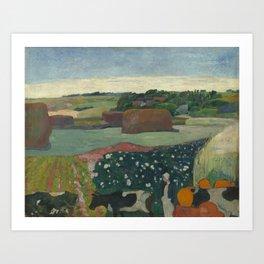 Paul Gauguin - Haystacks in Brittany Art Print
