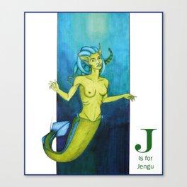 J is for Jengu Canvas Print
