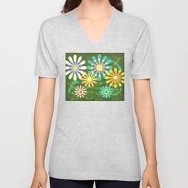 In The Garden Among The Flowers Unisex V-Neck