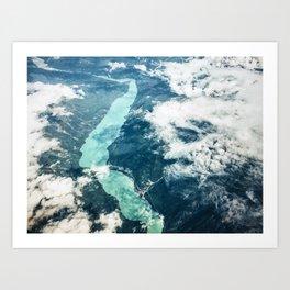 aerial view of clouds Art Print