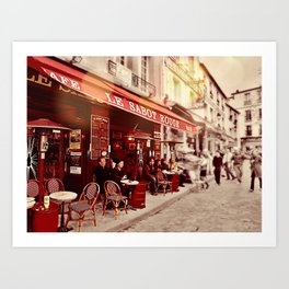 Coffehouse, Sidewalk Cafe Art Print