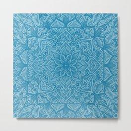 Mosaic Blue Mandala 1 Metal Print