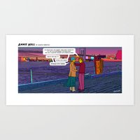 annie hall Art Prints featuring Stealing Scenes - Annie Hall by Follow the Lights