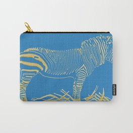 Stripped Zebra Carry-All Pouch