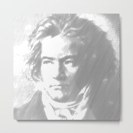 Beethoven Portrait Metal Print