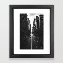 New York City (Black and White) Framed Art Print