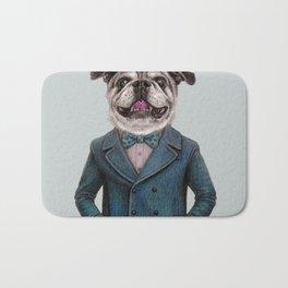 dog portrait Bath Mat