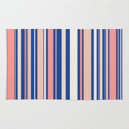 Pink Blue and Orange Stripes Rug