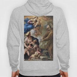 The Virgin and Child Appearing to Saint Francis of Assisi - Digital Remastered Edition Hoody