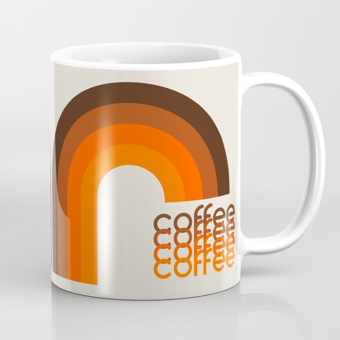 Coffee Mug - Brown Rainbow Coffee Mug