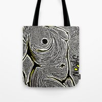 camo Tote Bags featuring Camo by Helen Syron
